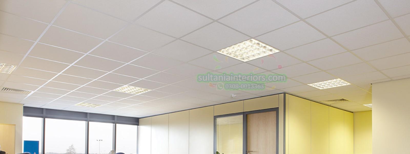 Pvc Gypsum Ceiling 2x2 Gypsum Tiles False Ceiling